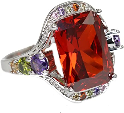 Big Pink gemstone and silver ring statement ring Free Shipping Crystal /& Zircon gemstone silver ring