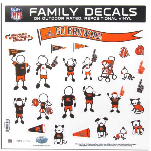 NFL Cleveland Browns Large Family Decal Set (Browns Family Decal compare prices)
