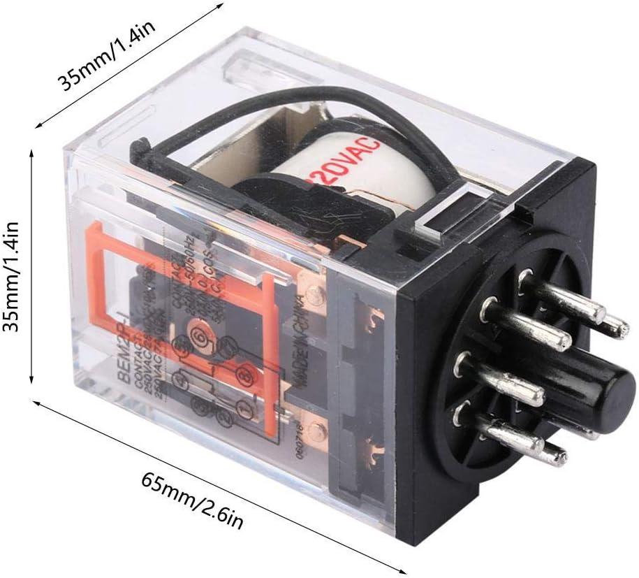 MK2P-I AC 220V Rel/é el/éctrico electromagn/ético de uso general 8 pines 10A H para el hogar industrial Rel/é el/éctrico electromagn/ético