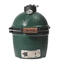 Keramikgrill Big Green Egg Mini ALGE grün kleiner Keramik Ceramic Smoker Camping Balkon Picknick ✔ Deckel ✔ oval ✔ tragbar ✔ Grillen mit Holzkohle
