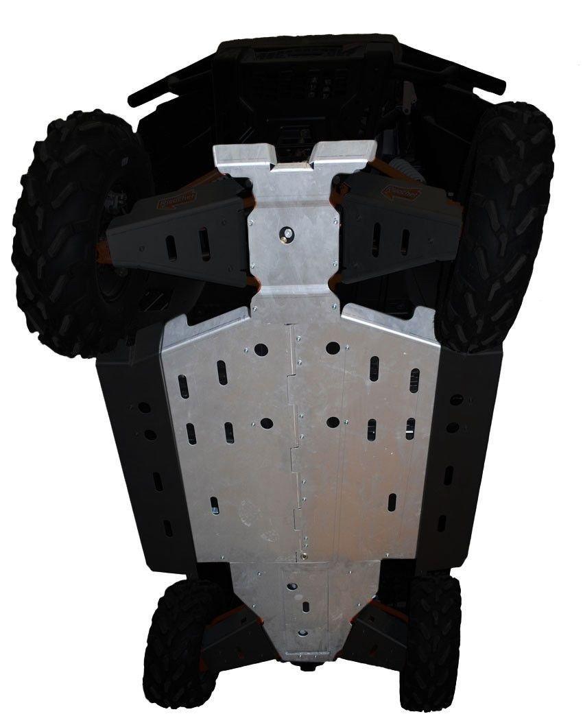 4-Piece Full Frame Skid Plate Set, Polaris Ranger XP 900 & 570 Full-Size and Polaris Ranger Diesel by Ricochet