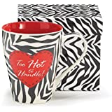 1 X Too Hot to Handle Zebra Stripe Heart Coffee Mug Adorable Gift Valentine Love by Animewild