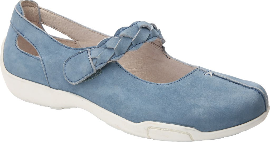 Ros Hommerson Women's Camry Leather, Foam, Rubber Fashion Mary Janes B01N1VCO42 9.5 C/D US|Light Blue