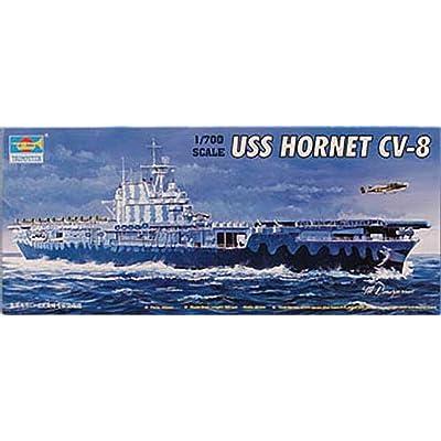 Trumpeter 05727 1/700 U.S.S. Hornet CV-8 US Aircraft Carrier: Toys & Games