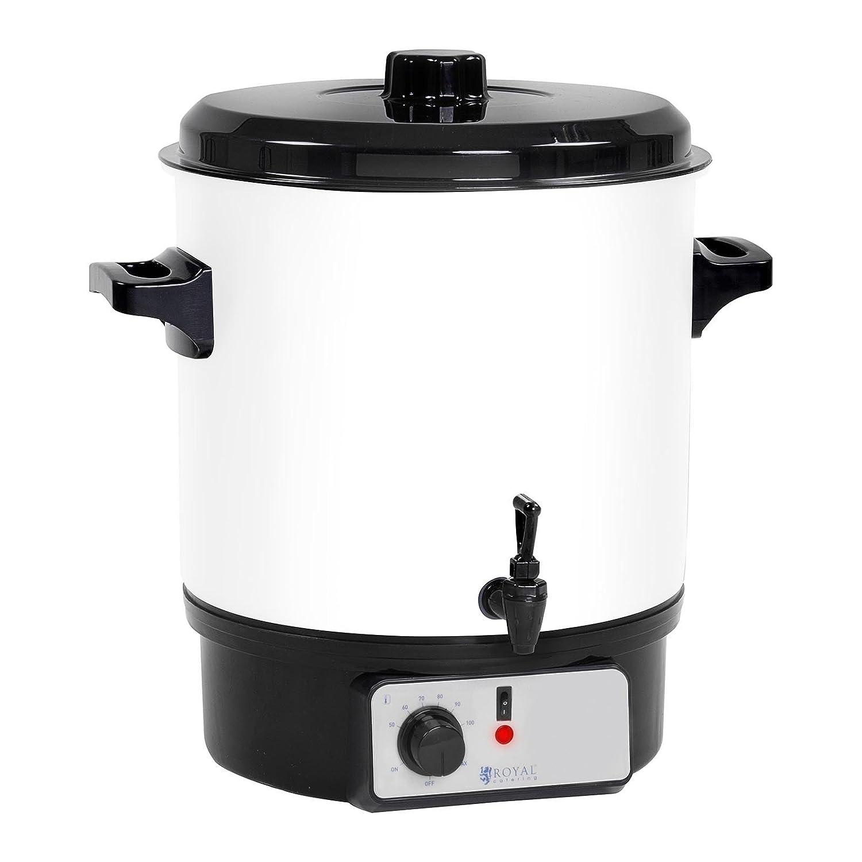 Royal Catering RCMW-27DTB Distributore Bevande Calde Pastorizzatore Bollitore (27 L, 1.800 W, 230 V, Rubinetto Di Scarico, 30-100°C, Acciaio/Plastica)