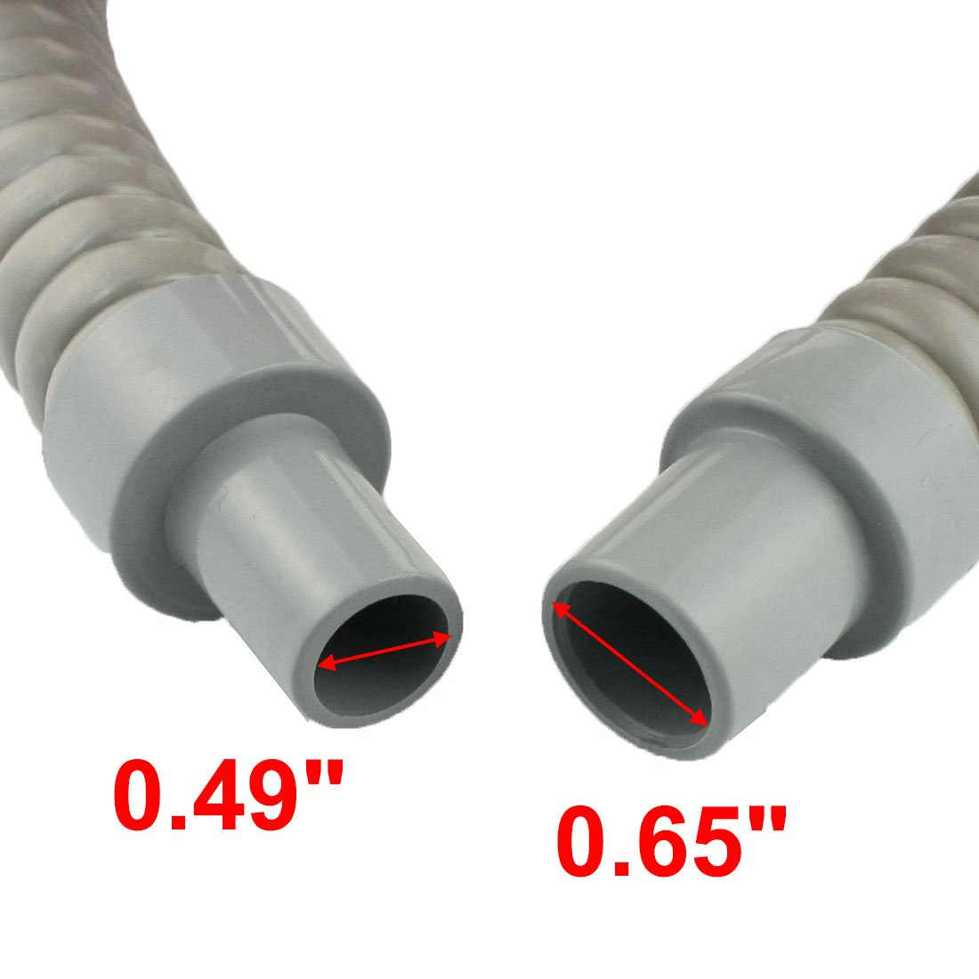 Plastic Water Drain Pipe Hose for Air Conditioner 60cm Long Gray
