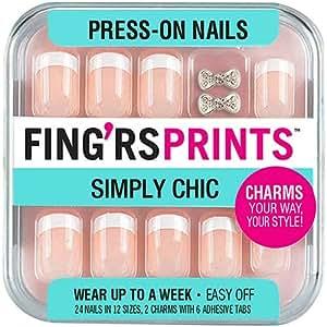 Amazon.com : Fingrs Prints Press-on Nails - Class Act ...