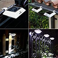 Jardin 8 Pack Terrasse Allée pour Clôture Gouttière Lampe ...