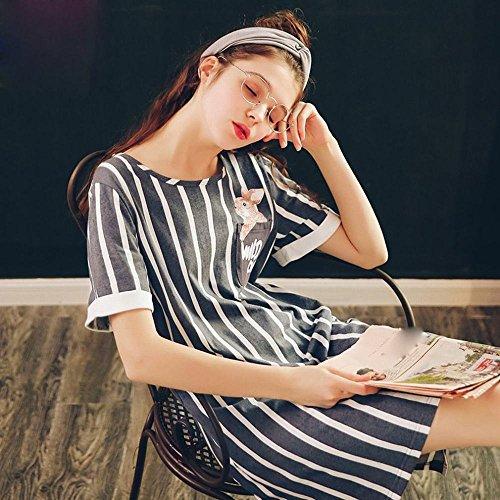 Estate Pigiama A Corte Gli Usura Studenti Indossare Maniche In Da Cotone Casa Possono Camicia Lff Notte Un Di La 1xqEp8nAwA