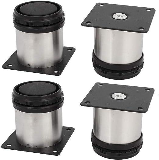 Firoya Ikea - Patas ajustables para muebles (4 unidades, acero inoxidable, 50 x 50 mm)