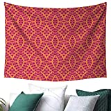 WilliamsDecor Geometric Tapestry for Dorm Modern Art with Ethnic Elements Harmony of Past