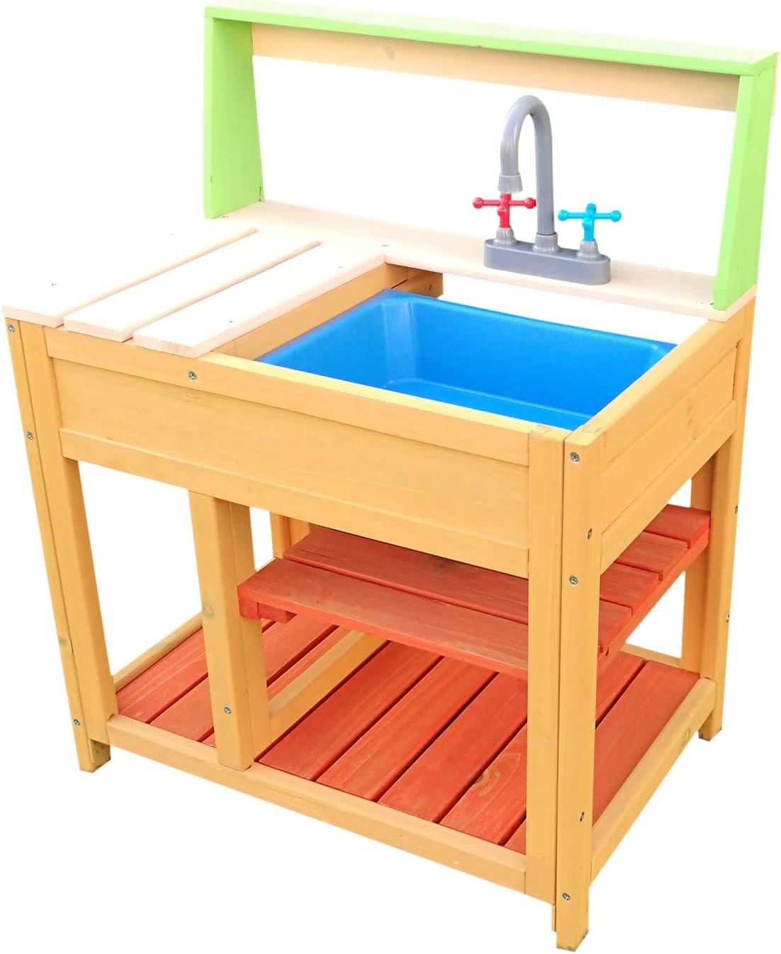 Wiltec Outdoor Kinderküche aus Holz