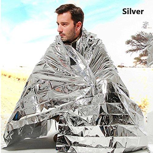 [10 Pack] Extra Large 83 x 63 inches Emergency Blanket, ATPWONZ Emergency Mylar Thermal Blanket Waterproof Foil Emergency Blanket Sleeping Bag Multi purpose for Survival, Outdoor, Camping or Adventure