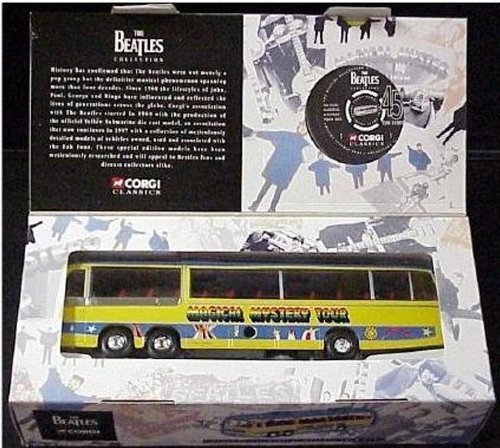 BEDFORD VAL MAGICAL MYSTERY TOUR BUS * THE BEATLES COLLECTION * 1997 Corgi Classics 1:50 Scale Die-Cast Vehicle