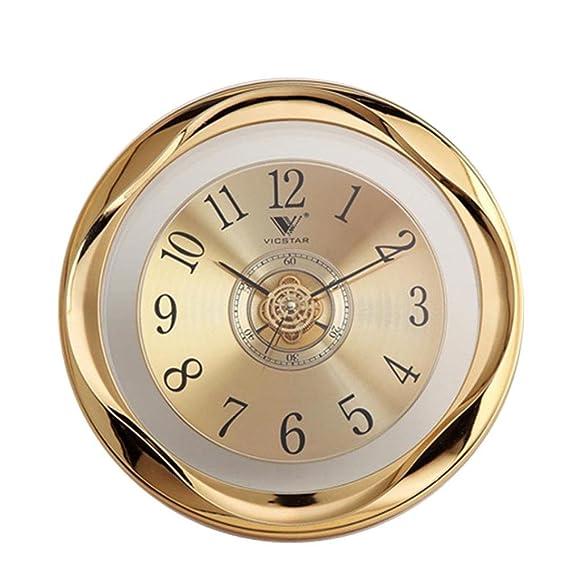 Amazon.com: DXNSPF Retro Quartz Wall Clock, High-End Mute Creative Clock Decorations, Hotel Living Room Wall Clock, 12inch: Home & Kitchen