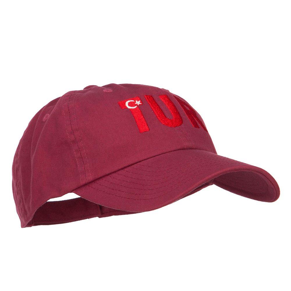 e4Hats.com Turkey TUR Flag Embroidered Low Profile Cap