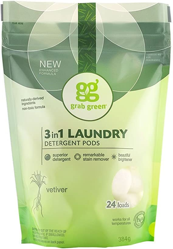 TALLA 15.20 oz.. Detergente Grab Green 3 en 1 100219 , 24 Loads, Vetiver, 1