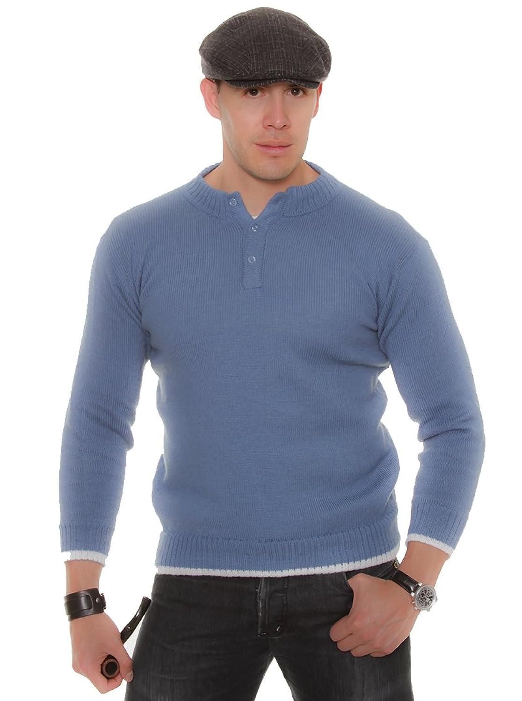 Gamboa Sky Blue Alpaca Sweater with Buttons