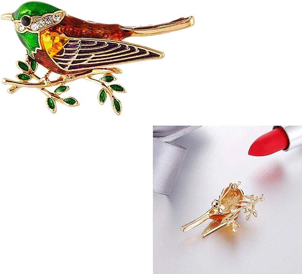 Loriot Strass Oiseau Oiseau Broche Alliage Branche Broche Pins des Femmes dhommes doiseaux en Alliage Brooches