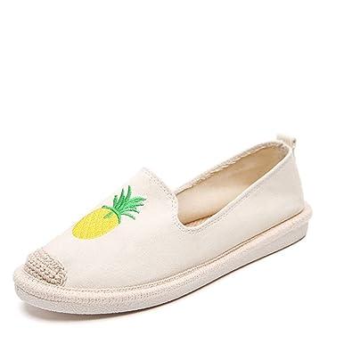 Successg Mujeres Alpargatas Mocasines Piña Embroideryn para Damas Plataforma Verano Casual Zapatos Planos Calzado: Amazon.es: Zapatos y complementos