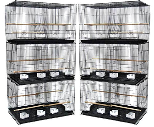 Mcage Lot of 6 Aviary Breeding Breeder Finch Parakeet Flight Bird Cage with Divider 24