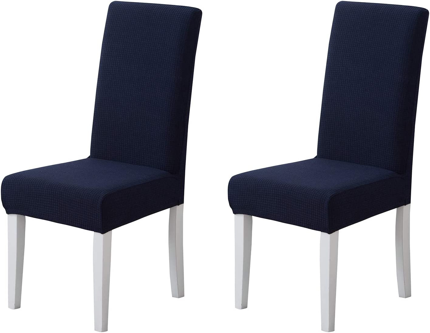 Pack of 2 - Dining Room Chair Slipcovers, Stretch Spandex Dining Chair Covers, Furniture Protector Covers Removable & Washable, Perfect for Dining Room, Restaurant, Hotel, Ceremony, Event Navy Blue