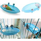 Bird Bath with Mirror Toy for Pet Small Medium Parrot Budgie Parakeet Cockatiel Conure Lovebird Finch Canary African…