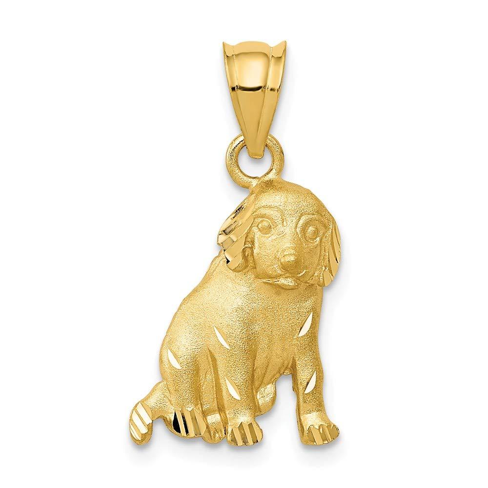 Diamond2Deal 14k Yellow Gold Dog Pendant