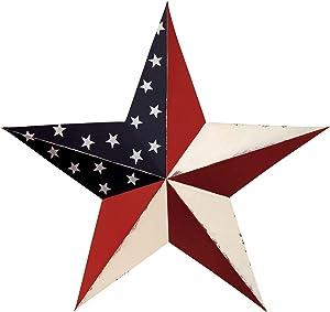 CWI Gifts Americana Barn Star Wall Decor, 24-Inch