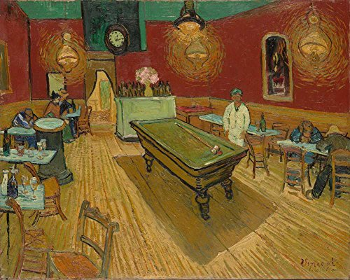 Van Gogh 夜のカフェ Night Cafe キャンバス複製画 60X50cm 人物 絵画 完全に立体に複製 3D 印刷 美術品 部屋 壁掛け 木枠なしの商品画像