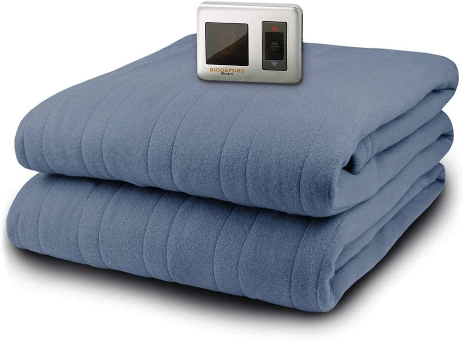 Heated Electric Blanket Plush Warming Cozy Soft Full