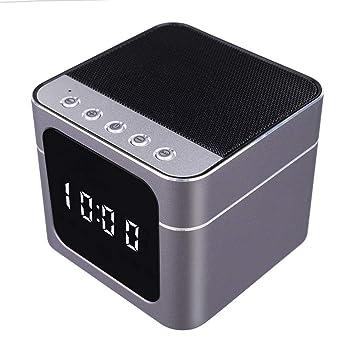 HD 1080P Wifi Cámara oculta inalámbrica Altavoz Bluetooth Reloj despertador Cámaras de vigilancia Seguridad para el hogar Cámaras de visión ...