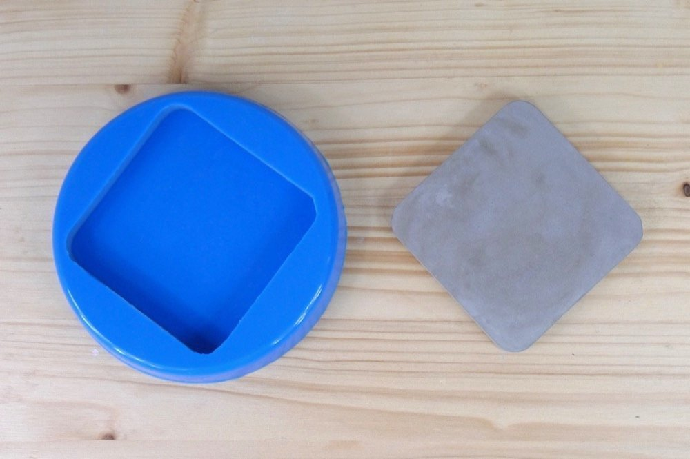 Silicone mold for concrete square coaster