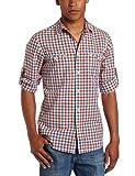 Ben Sherman Men's Slub Check Long Sleeve Woven Shirt