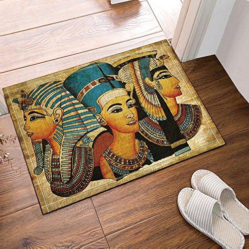 Mat Queen (NYMB Egyptian Queen King Prince on Papyrus Bath Rugs, Non-Slip Doormat Floor Entryways Outdoor Indoor Front Door Mat, Kids Bath Mat, 15.7x23.6in, Bathroom Accessories)