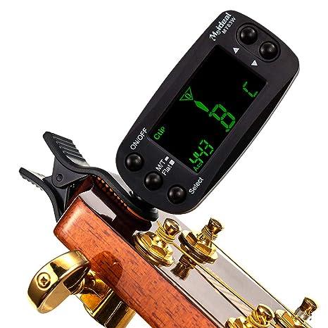Sguan-wu MT83W Guitarra Bajo Violín Ukulele Clip eléctrico en LCD Digital Tuner Metronome -