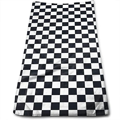 Amazon Com Classical Black And White Plaid Hand Towel For Bathroom Soft 27 56 X 11 81 Buffalo Check Plaid Bath Towels Absorbent Kitchen Dish Towels For Men Women Kitchen Dining