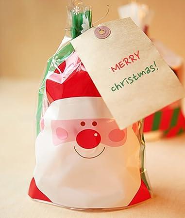 Amazon Com 200 Christmas Cello Bags Cute Santa Penguin