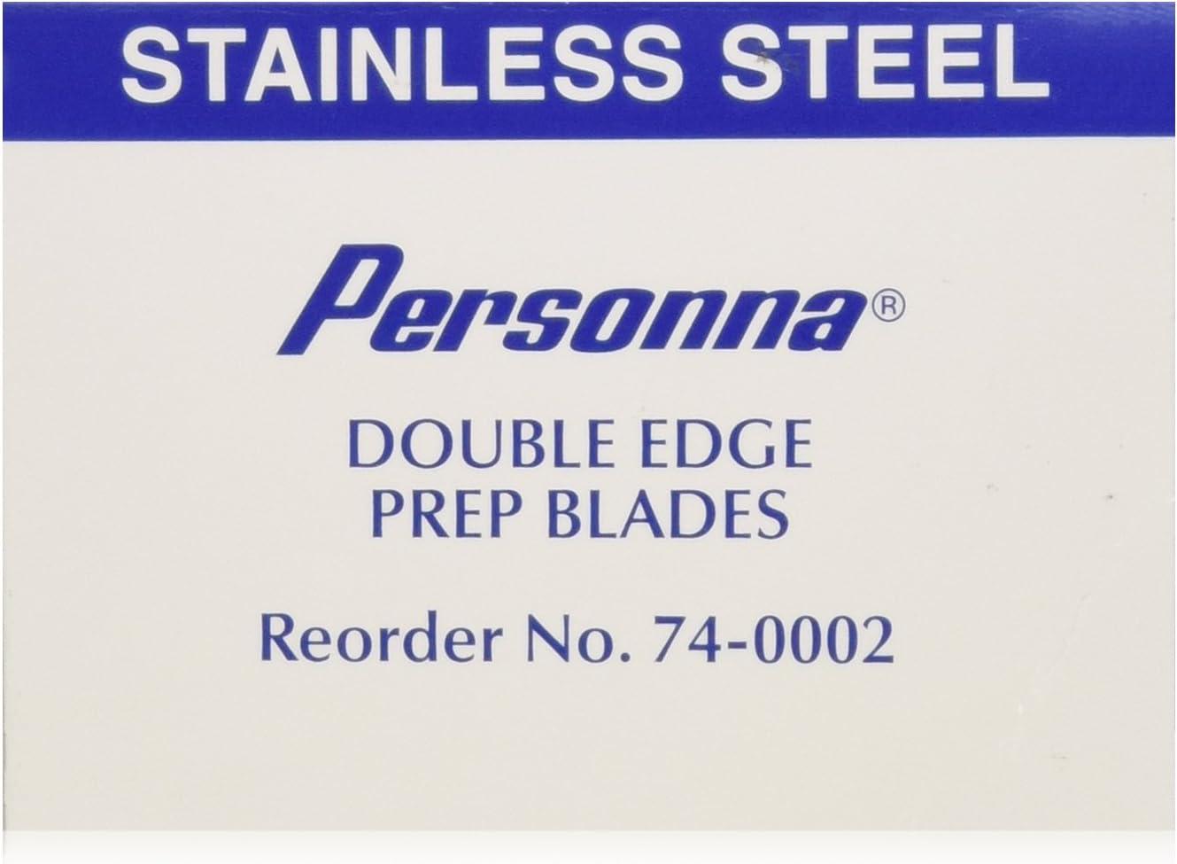 Personna Preparación de dos filos de las hojas de afeitar - Modelo 74-0002 - Caja de 100