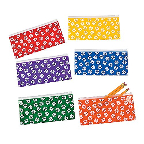 Paw Print Pencil Cases - 12 ct