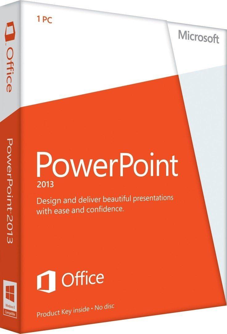 amazon com microsoft powerpoint 2013 key card 1pc 1user software