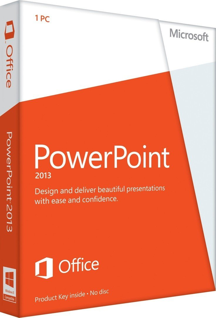Microsoft PowerPoint 2013 Key Card (1PC/1User) by Microsoft