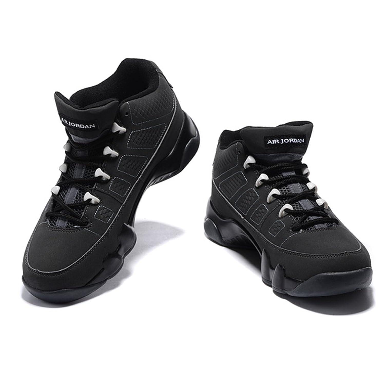 6dada2d76e69 on sale Anuszka Gojke Air Jordan 9 AJ9 Black Basketball Running Sneakers  Leather Athletic Shoes For