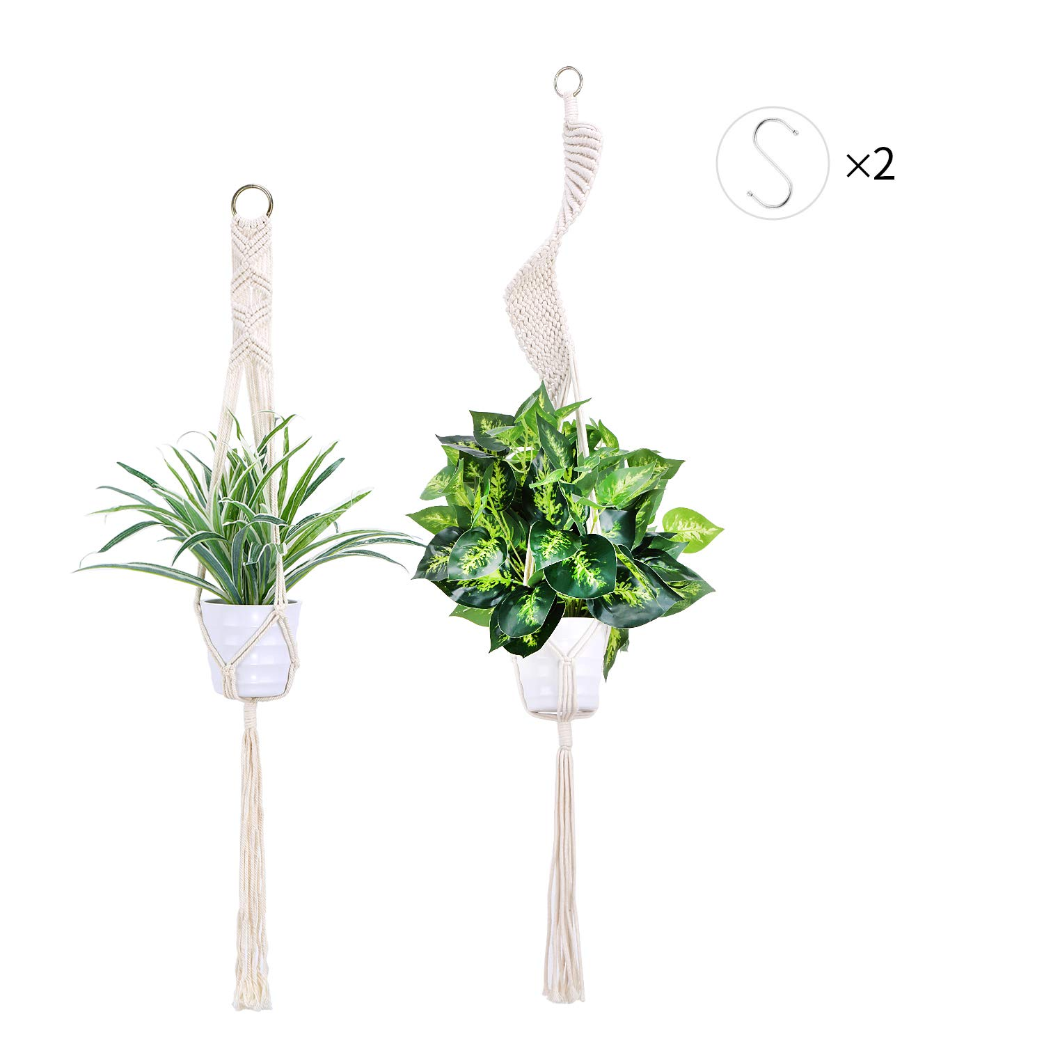 3pk Ceramic Hanging Planter for Indoor Plants Colorful Round Pots Air Succulent Holder Container Cactus Pot with Cotton Rope Hanger Outdoor Decor 23 Bees 3, Nature s Sunrise