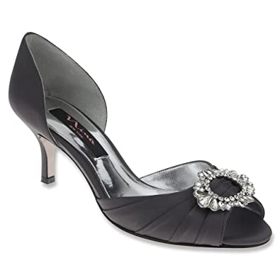 Nina  Crystah Damen Pumps Silber Steel