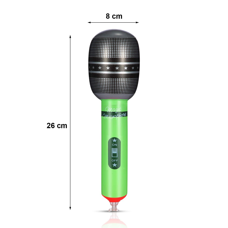 Amazon.com: Juego de 18 micrófonos inflables de plástico ...
