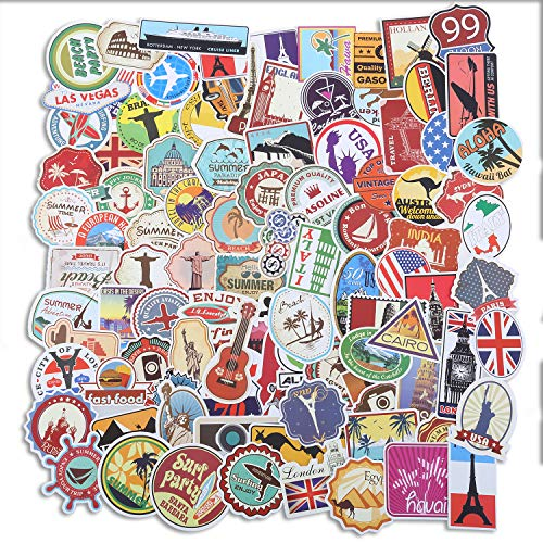 100 Pcs Vinyl Waterproof Kids Stickers for Laptop,Computer,Luggage,Car, Skateboard, Motorcycle, Bicycle Decal Graffiti Patches. (SG-100-LX)
