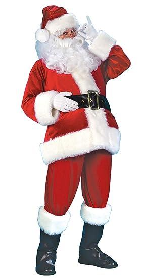 ef98c15e4d08d Lukis Set 7 Pcs Costume Déguisement Père Noël Barbe Chapeau Gant Veste  Manche Longue Ceinture Planton Long Bottes  Amazon.fr  Vêtements et  accessoires