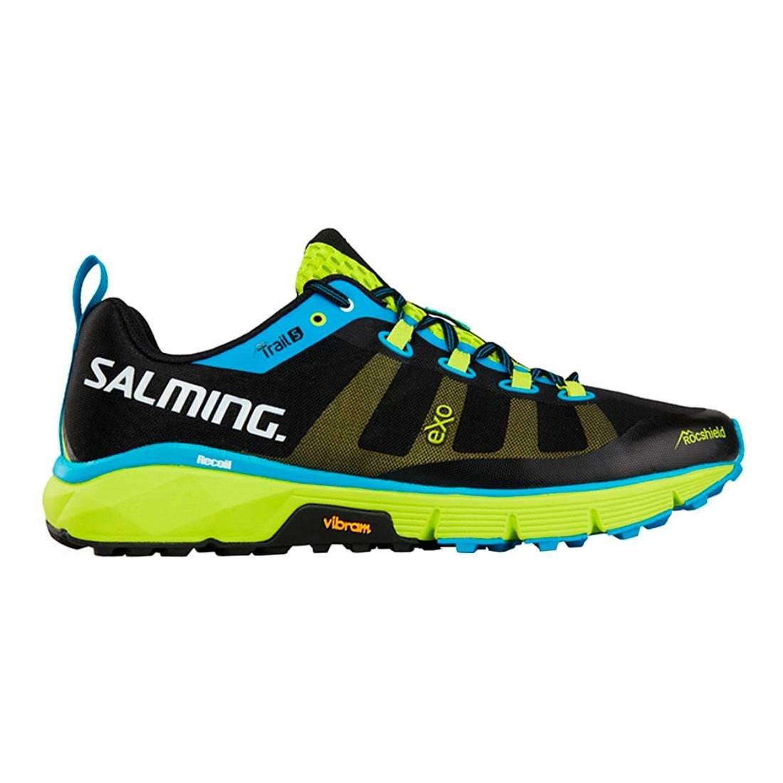 SalmingメンズTrail 5 B07541R9LT 12.5 D(M) US|ブラック/ライム ブラック/ライム 12.5 D(M) US