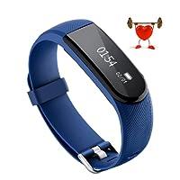 OMORC ID101 HR Fitness Armband, Bluetooth Herzfrequenz Fitness Tracker Sport Armband smart bracelet mit Pulsmesser, Schrittzähler, Aktivitätstracker, Kalorienzähler, Schlafanalyse
